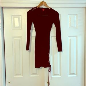 GUESS Black Sweater Dress Size Medium Tie Up Side